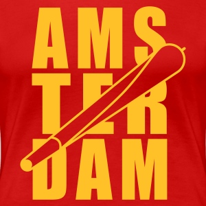 Red Amsterdam Holland Joint 1farbig Women's T-Shirts - Women's Premium T-Shirt