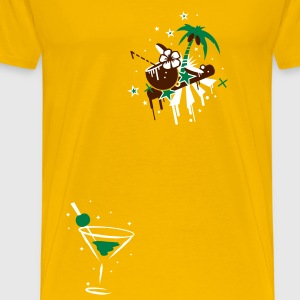 cocktail glass T-Shirts - Men's Premium T-Shirt