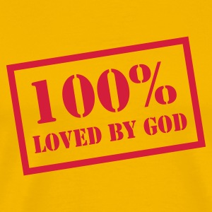 100% loved by God T-Shirts - Männer Premium T-Shirt