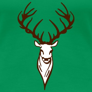 Clover green stag T-Shirts - Women's Premium T-Shirt