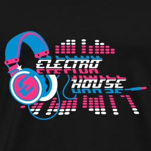 Black Headphones Electro House Design Men's T-Shirts - Men's Premium T-Shirt