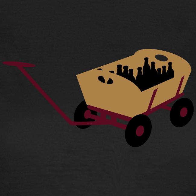 bollerwagen | girlie t-shirt | für grünkohl und kohlfahrt