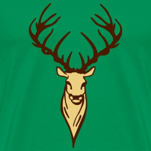 Forest green stag T-Shirts - Men's Premium T-Shirt