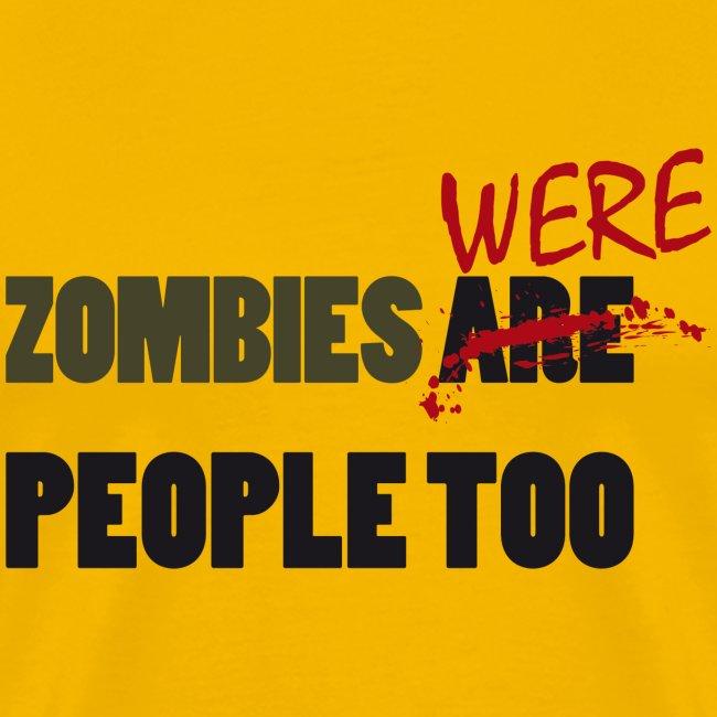 The walking dead - zombies were people too - chico manga corta