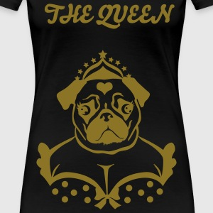 Mops the Queen illu 1c T-Shirts - Frauen Premium T-Shirt
