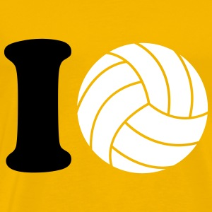 I love Volleyball T-shirts - Herre premium T-shirt