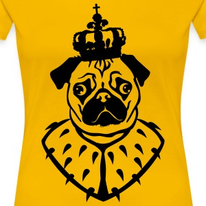 Mops - Pug - The King - 1c Frauen Shirt - Frauen Premium T-Shirt