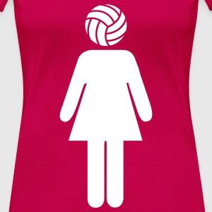 Volleyball Woman T-shirts - Dame premium T-shirt