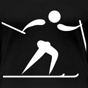 cross country skiing os T-shirts - Premium-T-shirt dam