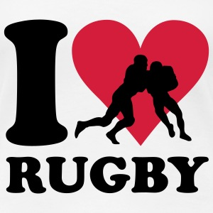 I love Rugby T-shirts - Dame premium T-shirt