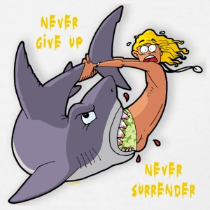 never give up - never surrender - Männer T-Shirt
