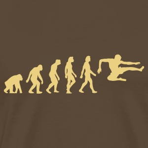 Bruin Evolution of Karate (1c) T-shirts - Mannen Premium T-shirt