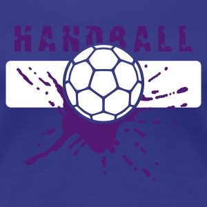 Türkis Handball Ball Splash T-Shirts - Frauen Premium T-Shirt