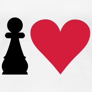 I love Chess T-Shirts - Frauen Premium T-Shirt