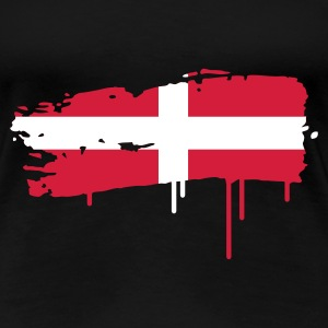 Swiss flag brush stroke T-Shirts - Women's Premium T-Shirt