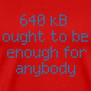 :: 640 kB for anybody :-: - Herre premium T-shirt
