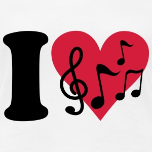 I love Music T-Shirts - Frauen Premium T-Shirt