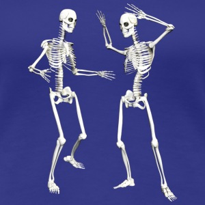 :: skeleton dance (DD) :-: - Premium-T-shirt dam