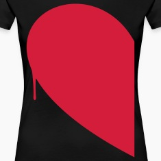 Half Heart Woman T-Shirts