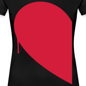 Half Heart Woman T-Shirts - Women's Premium T-Shirt