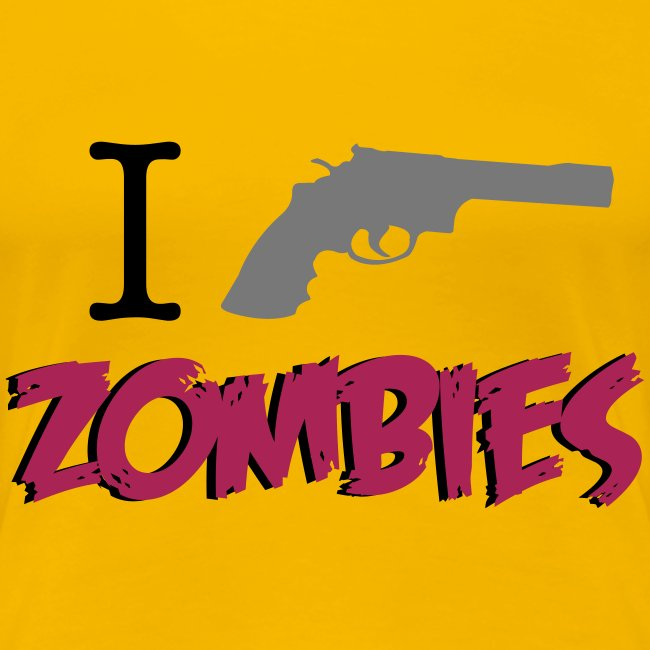 camiseta walking dead - i shoot zombies - chica manga corta