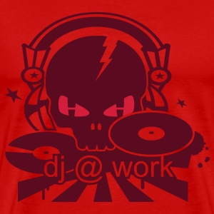 DJ Skull with Headphones T-Shirts - Men's Premium T-Shirt