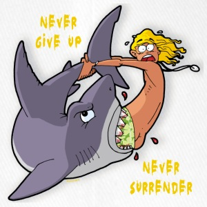 never give up - never surrender - Flexfit Baseballkappe