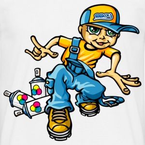 B-boy and sprays - Men's T-Shirt