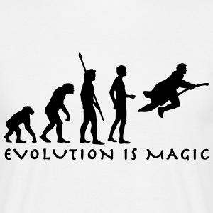 evolution_potter_1c_b T-shirts - Mannen T-shirt