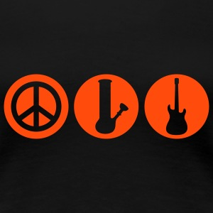 Peace | Drugs | Rock | Frieden | Shisha | Rock & Roll T-Shirts - Camiseta premium mujer