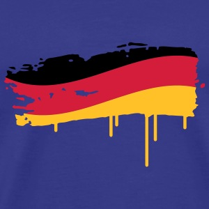 Germany flag painted with a brush stroke T-Shirts - Men's Premium T-Shirt