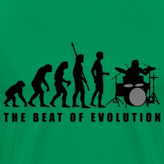 evolution_drummer_c_2c T-Shirts