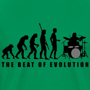 evolution_drummer_c_2c T-Shirts - Men's Premium T-Shirt