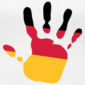 handprint german flag 3c T-Shirts - Women's Premium T-Shirt