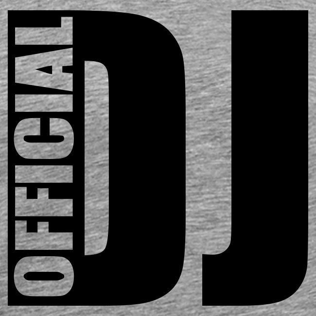 Mannenshirt 'Official DJ'