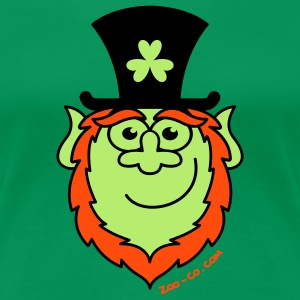 St Paddy's Day Leprechaun Smiling T-Shirts - Women's Premium T-Shirt