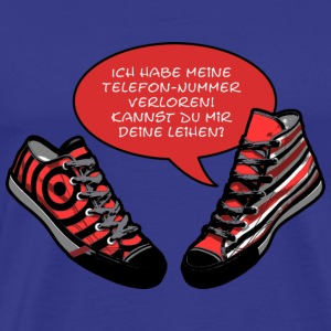 TALKING SHOES - TELEFONNUMMER | unisex Shirt - Männer Premium T-Shirt