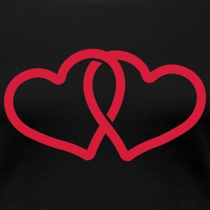 couple heart T-Shirts - Frauen Premium T-Shirt
