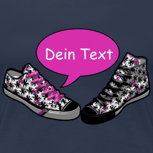 TALKING SHOES pink - Dein Text | Frauenshirt XXXL - Frauen Premium T-Shirt