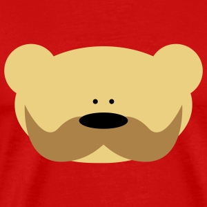 Teddy Bear Moustache T-shirts - Herre premium T-shirt