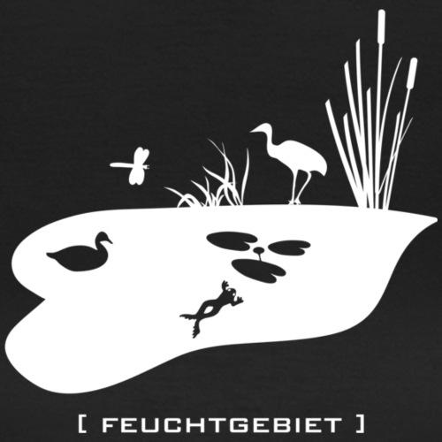 Feuchtgebiet Frosch Tümpel See Weiher Vogel weiss tier wild