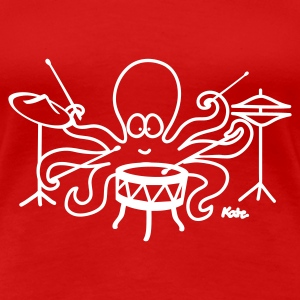 Red Octopus  Women's T-Shirts - Women's Premium T-Shirt