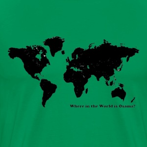Where in the world is Osama? - Premium T-skjorte for menn
