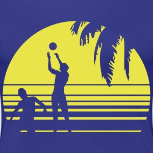 BEACH VOLLEY PALME T-shirts - Dame premium T-shirt