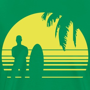 BEACH SURFING BOY PALME T-Shirts - Men's Premium T-Shirt
