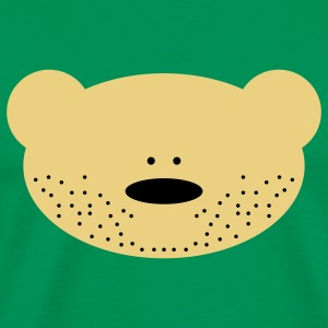 Teddy Bear Beard T-Shirts - Men's Premium T-Shirt