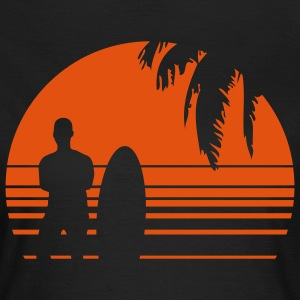 BEACH SURFING BOY PALME 1C T-shirts - T-shirt dam