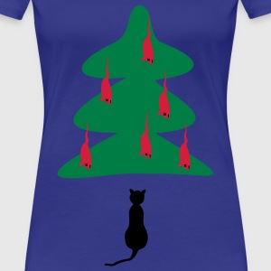 Turkos Cat - Jul T-shirts - Premium-T-shirt dam