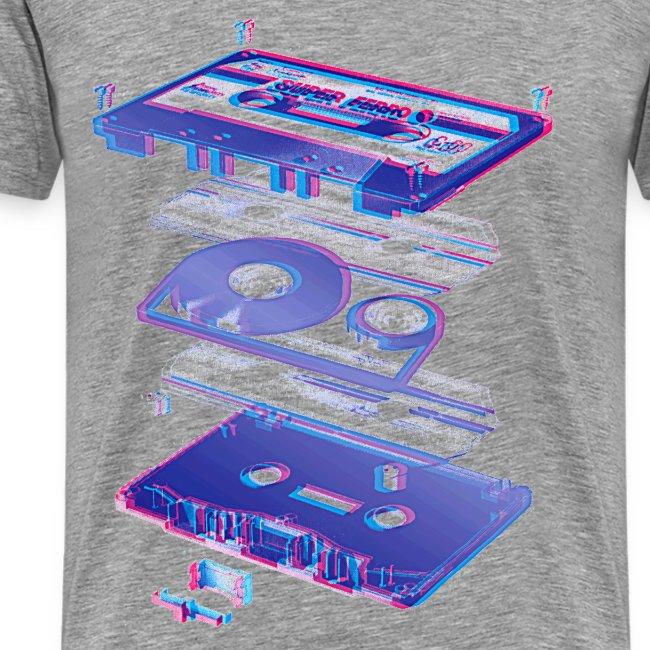 Green Retro cassette player