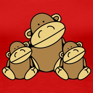 Three Monkeys Camisetas - Camiseta premium mujer